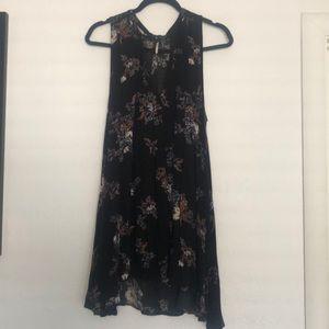Free People Black Floral Tunic Dress